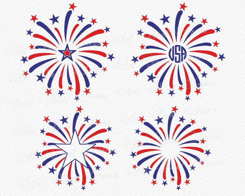 Svg Fireworks Svg Monogram Fireworks Svg Fourth Of July Svg 4th Of July Patriotic Svg Summer Svg Silhouette Cameo Cri Fireworks Svg 4th Of July Fourth Of July