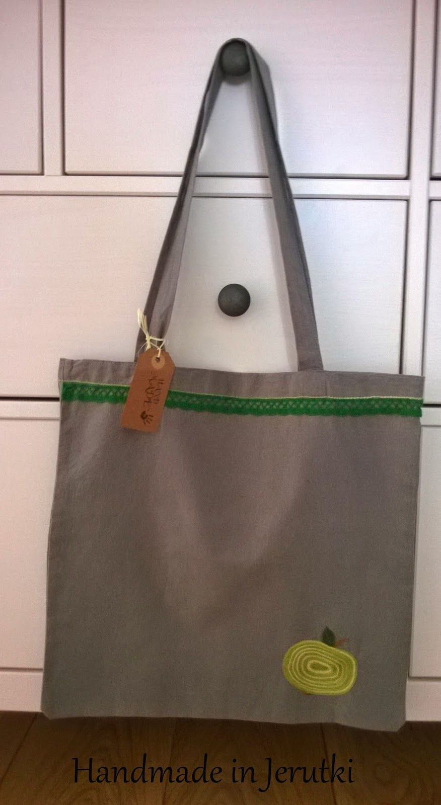 Handmade in Jerutki: Bawełniana torba / shopping bag