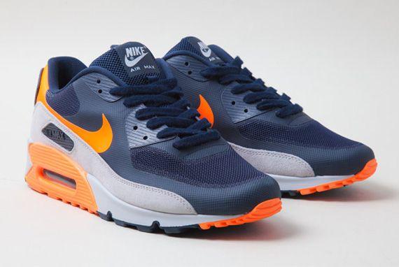 Nike Air Max 90 Orange, Bleu Marine