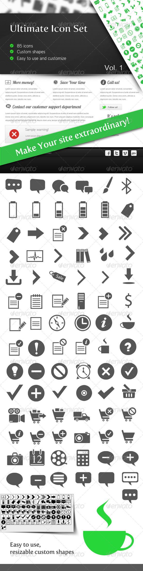 Ultimate Icon Set Vol 1 Symbols Shapes Icon set