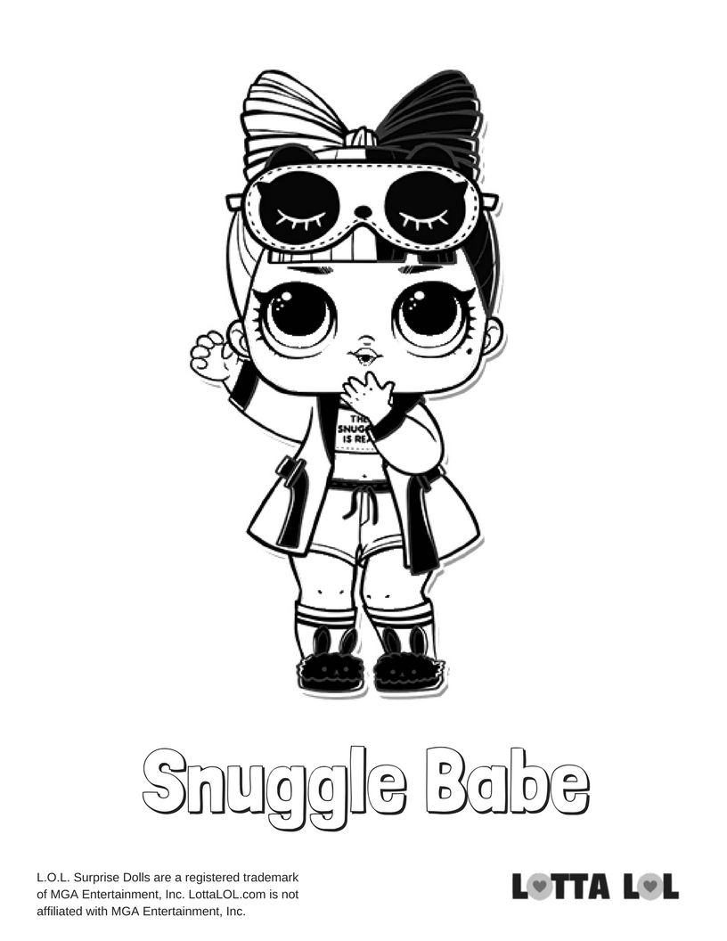 Snuggle Babe Coloring Page Lotta Lol Coloring Pages Lol Dolls