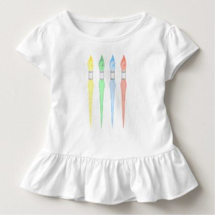 Young Artist - Four Brushes VZS2 Toddler T-shirt - artists unique special customize presents