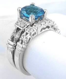 blue topaz engagement ring sets Google Search Ideas for an