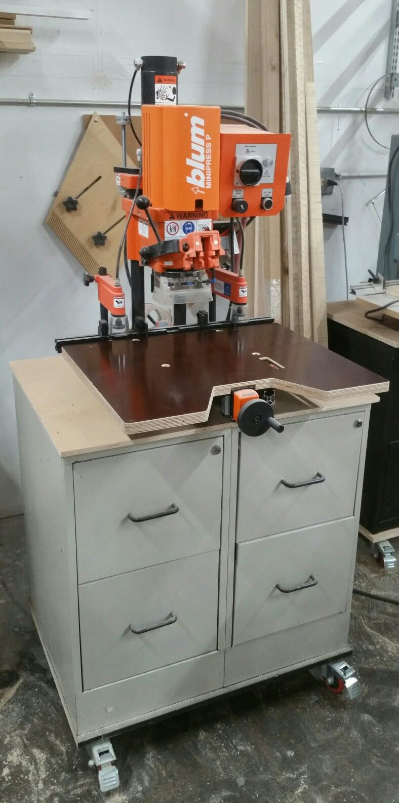 Blum Minipress P Hinge Boring Machine Workbench Decor Kitchen Appliances