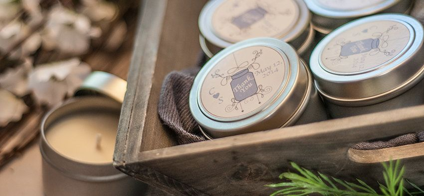 Diy Soy Candle Wedding Favors