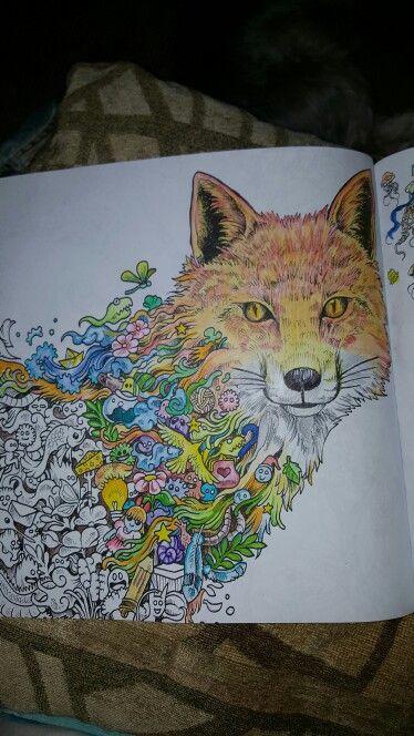 Fox In Animorphia Coloring Book