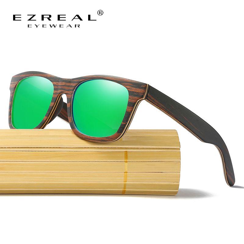 3cb85cacf626a Encontre mais Óculos de sol Informações sobre EZREAL De Madeira Óculos De  Sol Dos Homens Polarizada