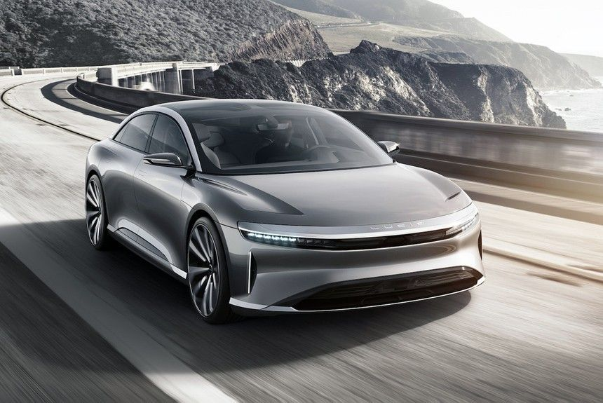 Lucid Motor Air The 1 000 Hp Electric Car Accelerated To 380 Km H Which Intends Compete With Tesla
