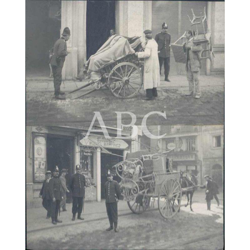 Valencia la huelga de ebanistas obreros de una f brica de muebles protegidos por guardias de - Muebles la fabrica valencia ...