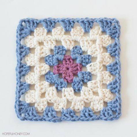 Easy Classic Granny Square Crochet Square Patterns Granny Square Crochet Pattern Crochet Blanket Patterns