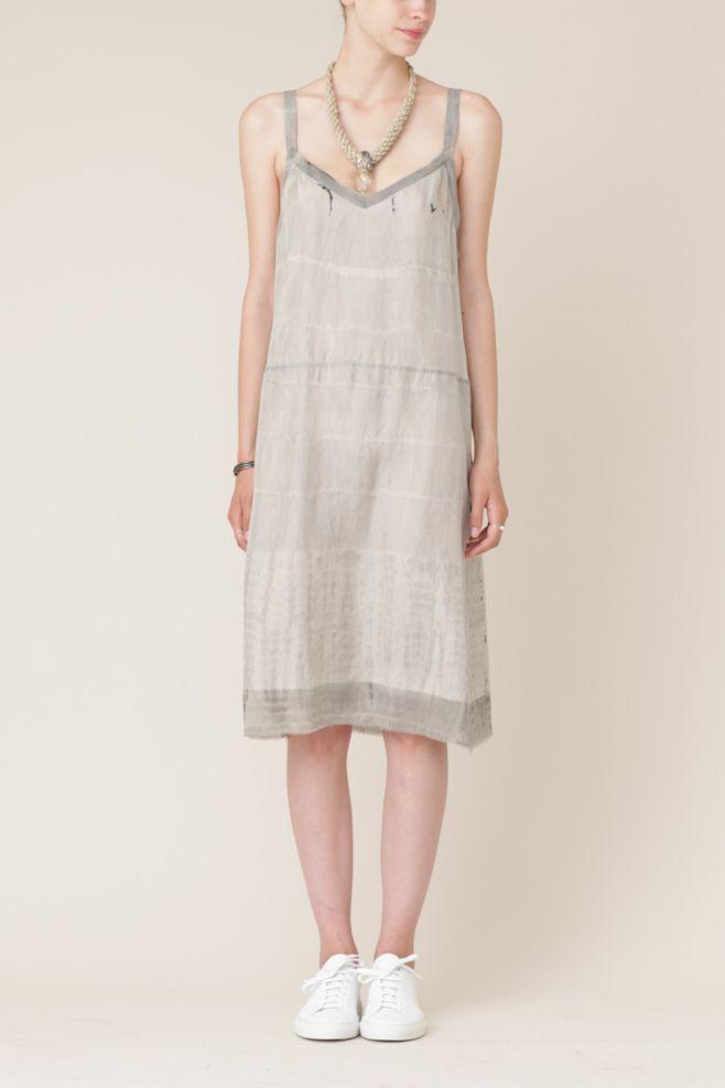 Raquel Allegra Tie Dye Slip Dress (Ash)
