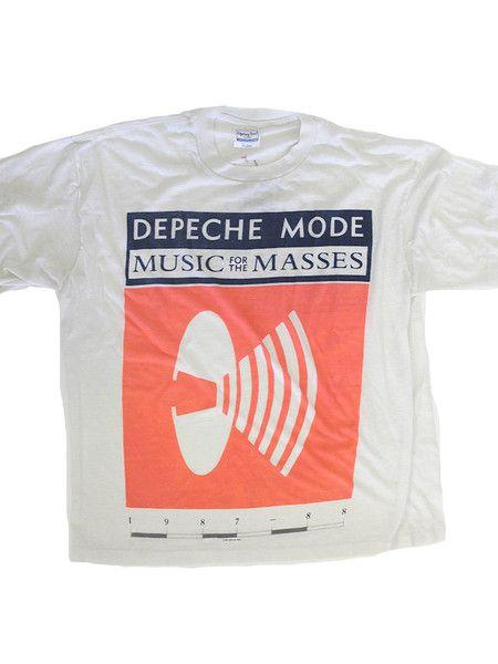 depeche mode music for the masses vintage t shirt 1987. Black Bedroom Furniture Sets. Home Design Ideas