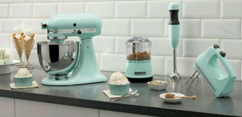 Merveilleux Kitchenaid Ksm95ic Ultra Power Tilt Head Stand Mixer Ice Blue (5 Piece Set)  $500