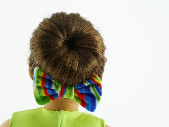 american girl doll hair bow multicolor