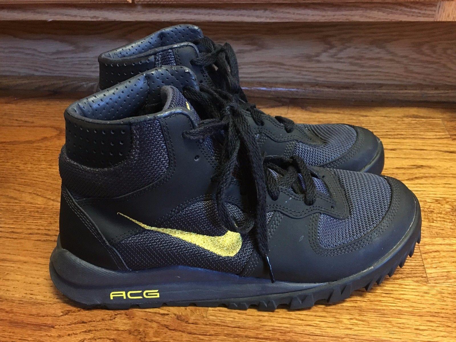 Mens Nike ACG Takos Mid Hiking Trail Boots Shoes 2009 size 8.5 Black  317543-071