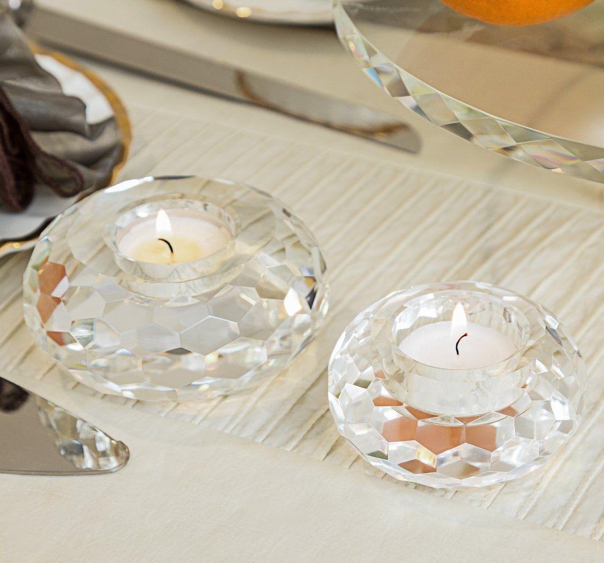 Donoucls Crystal Tealight Holders Candlesticks Christmas