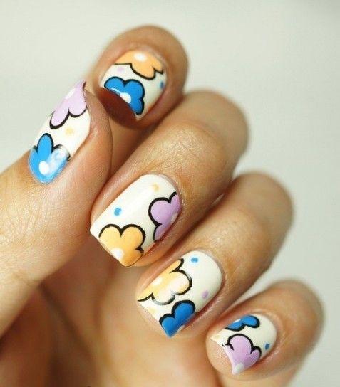 Nail Art Fiori Semplici Fai Da Te Foto Unghie Idee Per Manicure Fiori Unghie