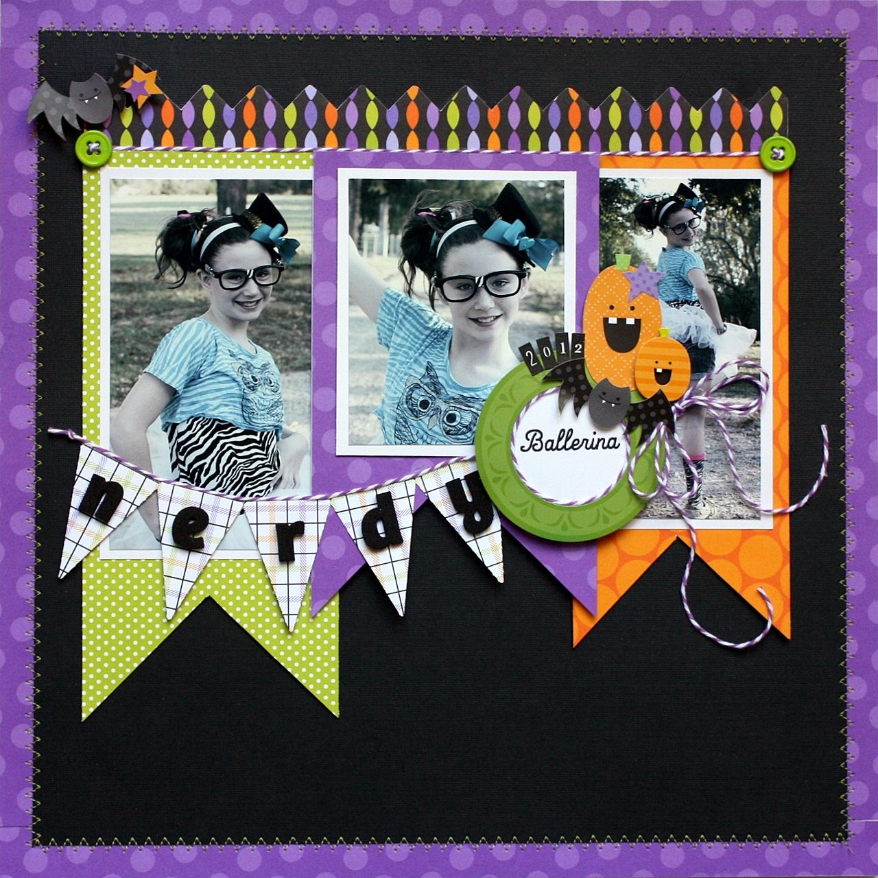 Scrapbook ideas calendar pages - Halloween Scrapbook Page Layout