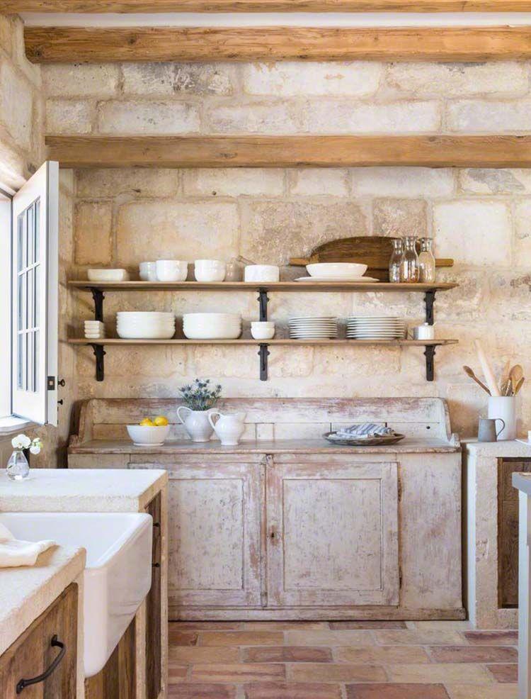 Mediterranean Courtyard Home Exhibits Rustic Charm In Carefree Arizona Brick Floor Kitchen French Country Kitchens Kitchen Flooring