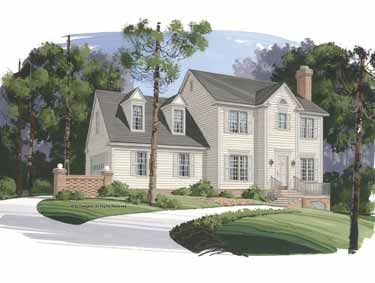 Colonial Style House Plan 3 Beds 2 5 Baths 1653 Sq Ft Plan 56 131 Country Style House Plans Colonial House Plans Colonial Style Homes