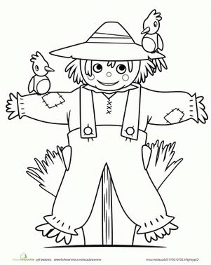 Scarecrow Coloring Sheet Fall Coloring Pages Fall Coloring Sheets Preschool Coloring Pages
