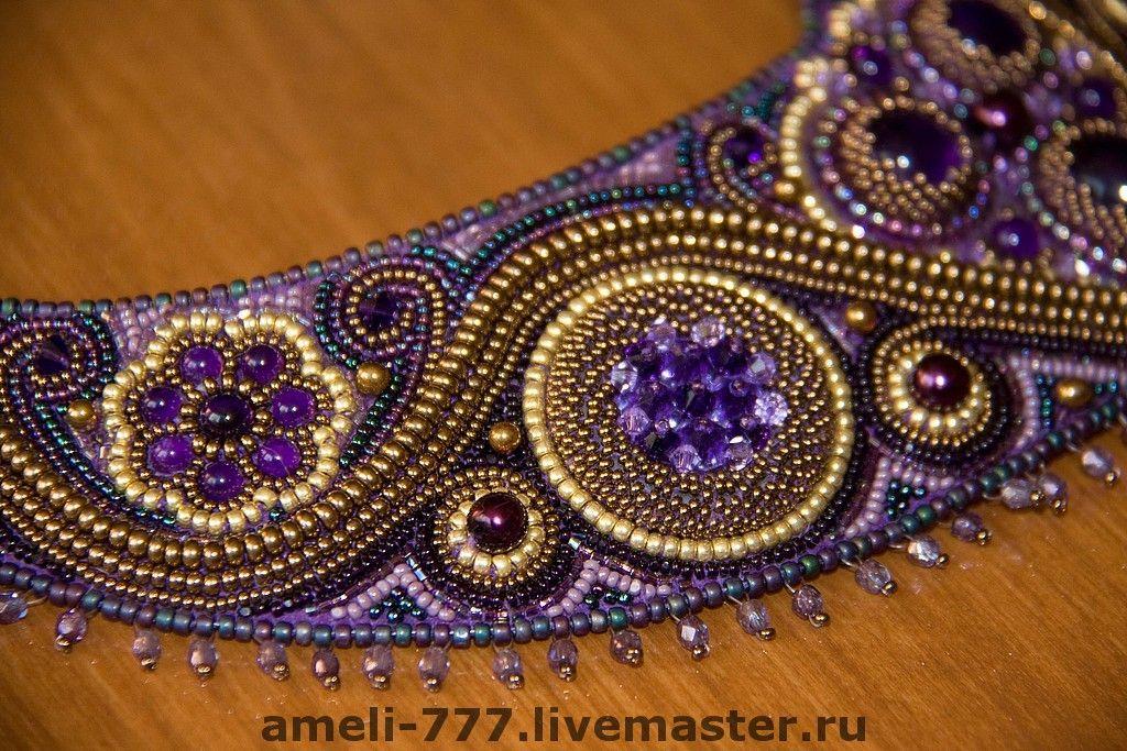 "Irina Rudneva / колье ""АМЕТИСТОВОЕ""  Amazing artist! A lot of her work inside."