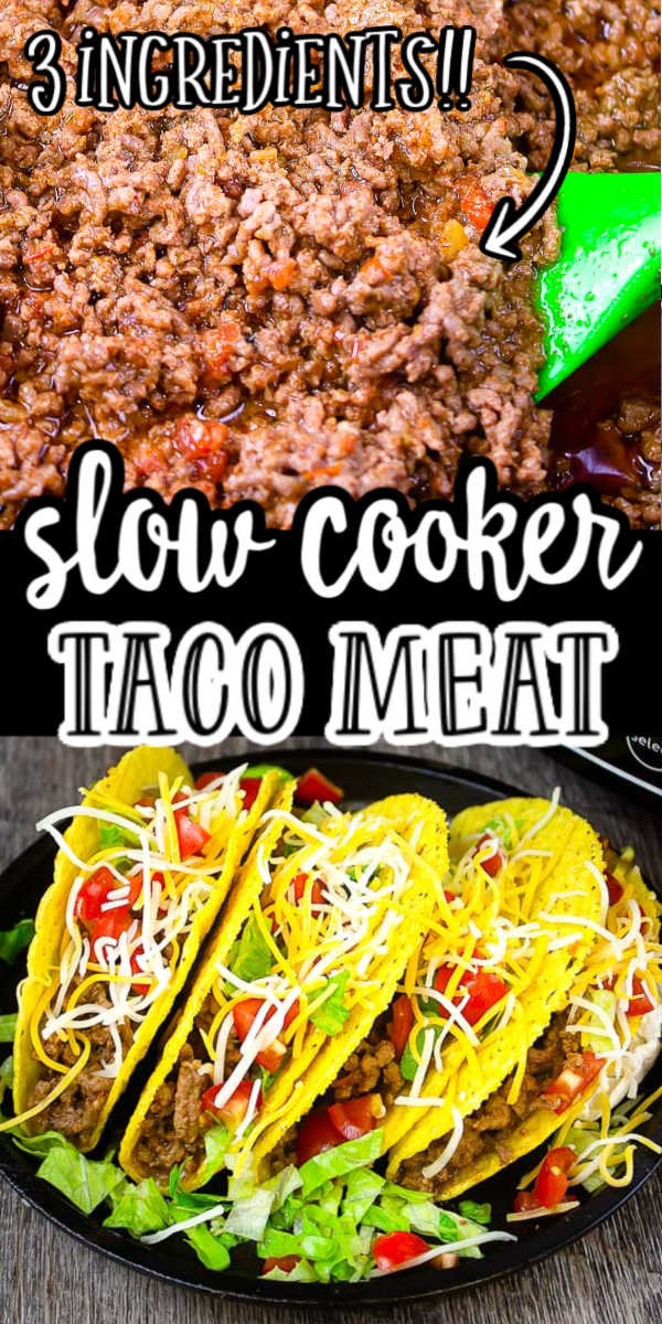 Make Taco Night Even Easier Make Tender And Flavorful Slow Cooker Beef Tacos Just 3 Ingredients S In 2020 Crock Pot Tacos Crockpot Taco Meat Slow Cooker Ground Beef