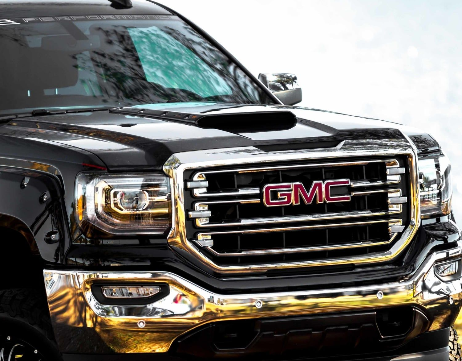 Sca Gmc Black Widow Hood Scoop Gmc Trucks Sierra Gmc Gmc Sierra