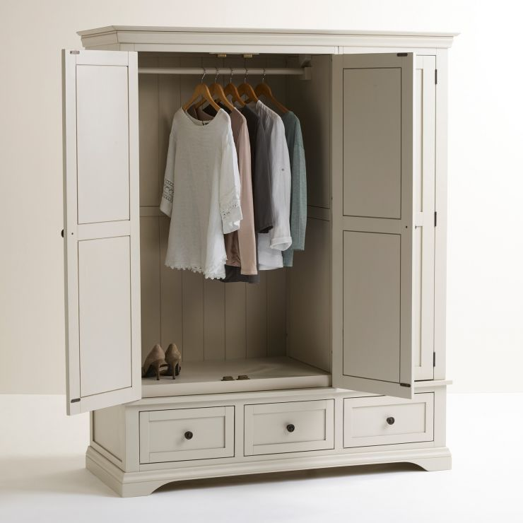 Large Gray Armoire Arlette Gray Collection From Oak Furniture Land Oak Furniture Land Solid Oak Furniture Oak