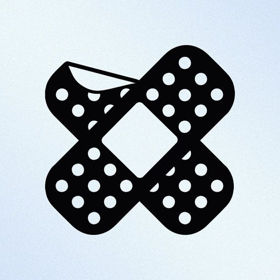 Items similar to band aid crossed bent corner jdm vinyl decal sticker on etsy