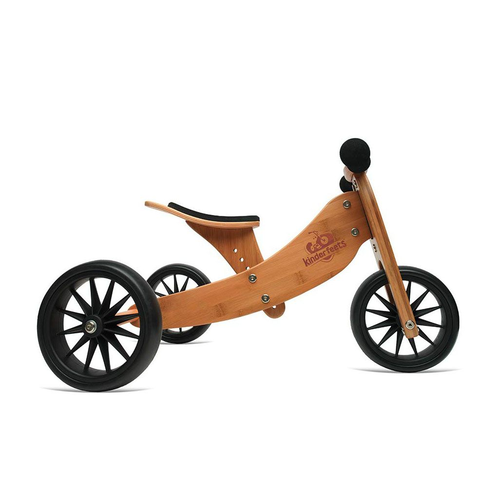 Kinderfeets 2 In 1 Balance Bike And Tricycle Happy Little Tadpole Wooden Balance Bike Eco Baby Toys Tricycle