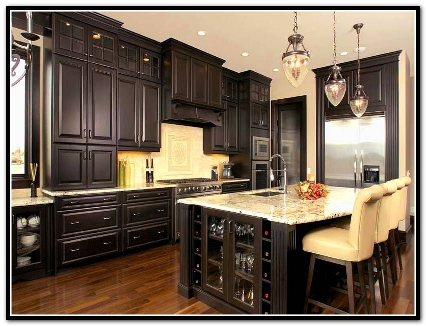 Dark Wood Stain Kitchen Cabinets | Home Design Ideas ...