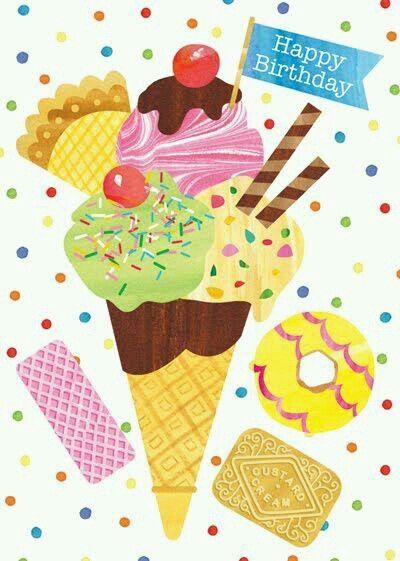 ice cream cards happy