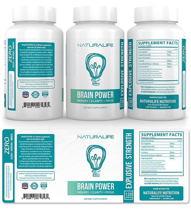 Brain Power Supplement Label Template    wwwdlayouts - labeltemplate
