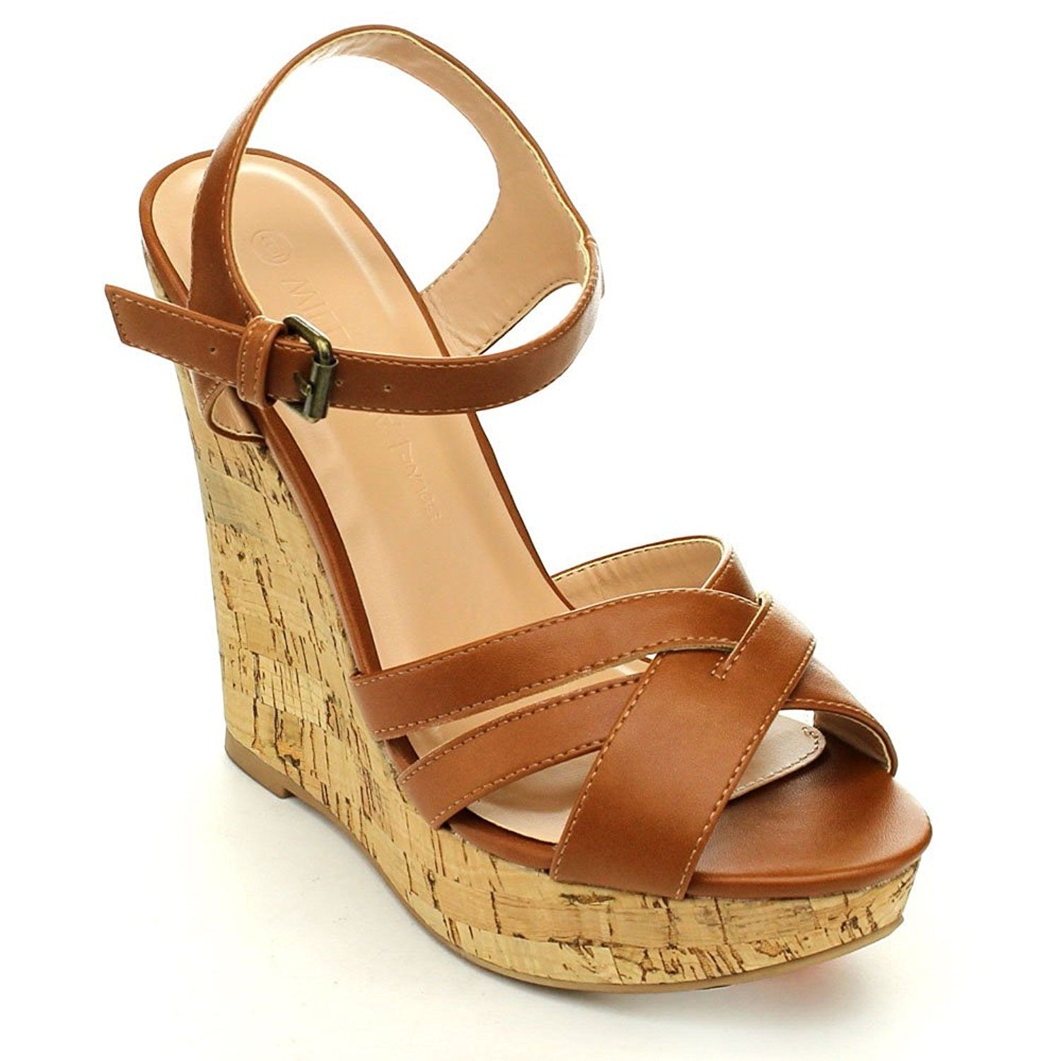 9c3d28f4c80 WILD DIVA MADISON-131 Women Comfort Platform Ankle Strap Wedge Sandals --  Be sure to check out this awesome product.
