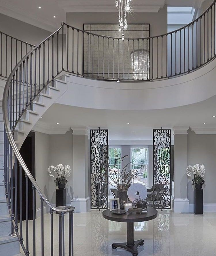 Beautiful Front Hall And Staircase: Grand Entrance Hall, Foyer, Entryway, Staircase With