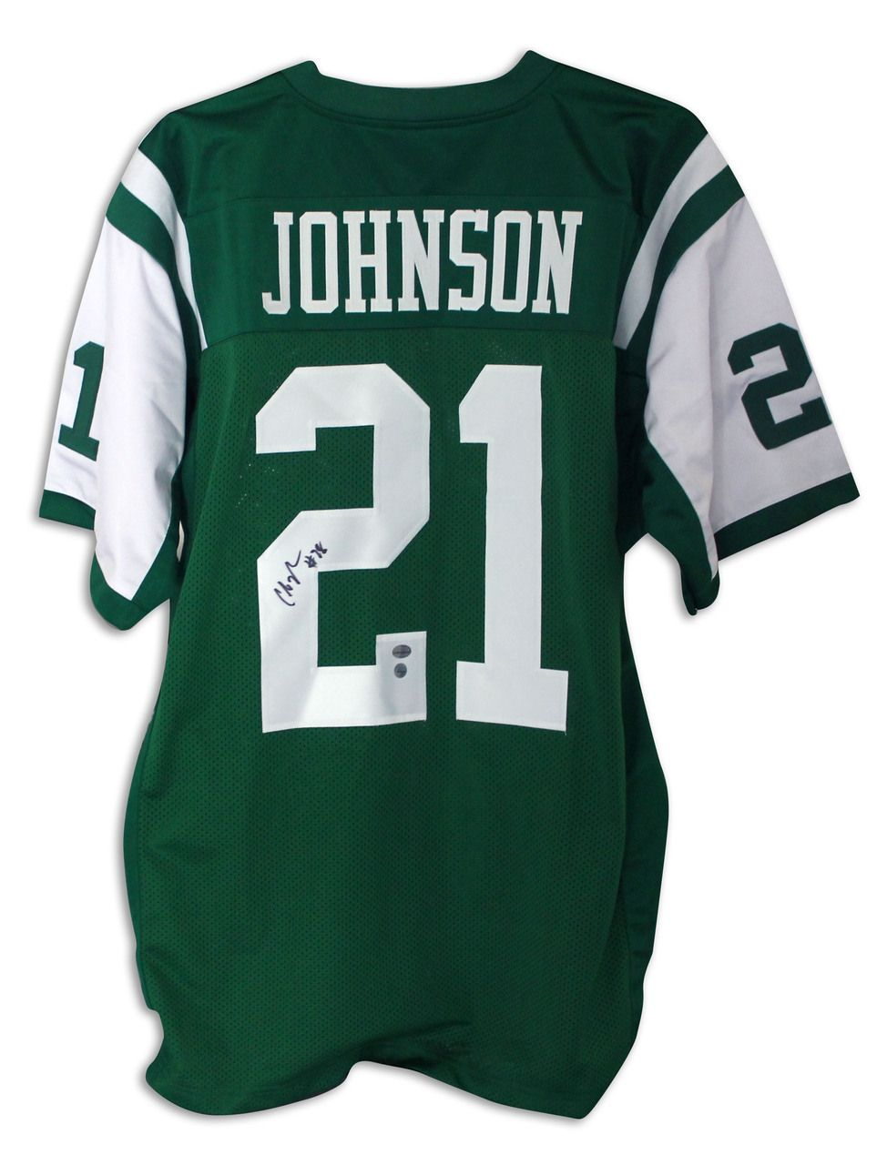 f9066579ded Chris Johnson New York Jets Autographed Green Jersey New York Jets Nike ...