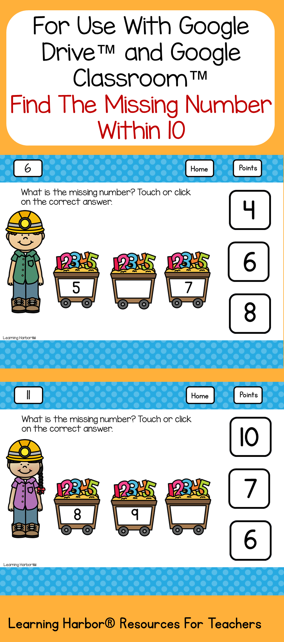 What is the Missing Number? 1 - 10 Kindergarten | Number, Students ...