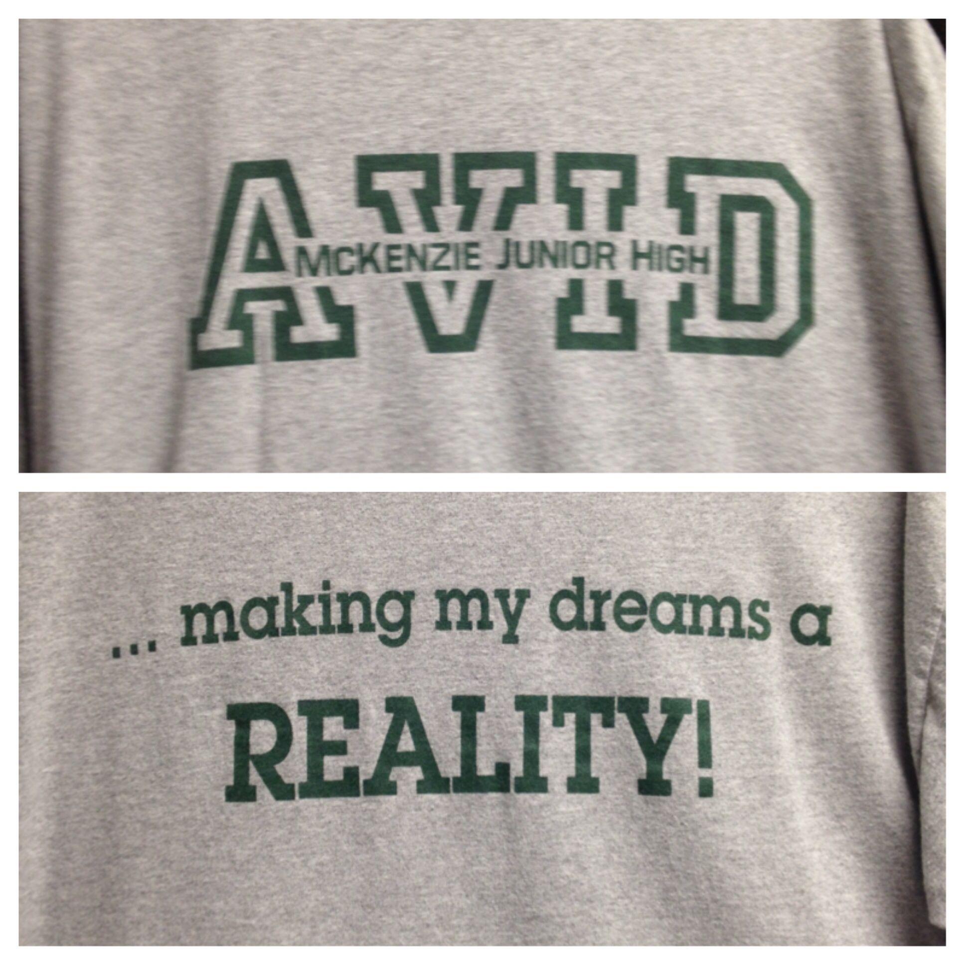 Avid t-shirt design | All things AVID | Pinterest | Avid ...
