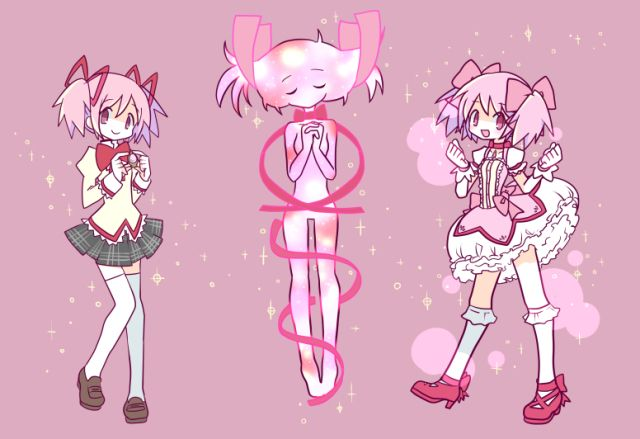 Madoka Transformation Magical Girl Anime Mahō Shōjo Madoka