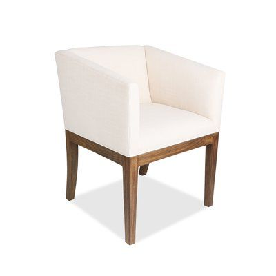 Brayden Studio Harber Upholstered Arm Chair Solid Wood Dining Chairs Upholstered Dining Chairs Upholstered Arm Chair