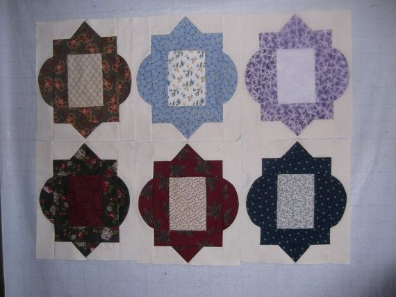 Victorian style quilt blocks 12x15 inches 12 by KountreeCreations ... : victorian style quilts - Adamdwight.com