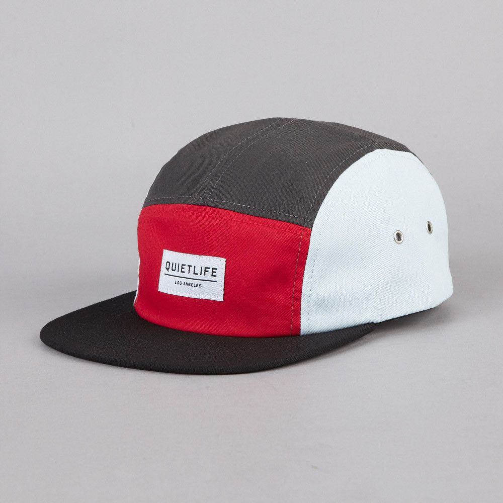 2d6113f6a4d The Quiet Life Quad 5 Panel Cap Red   Black   White Five Panel Hat