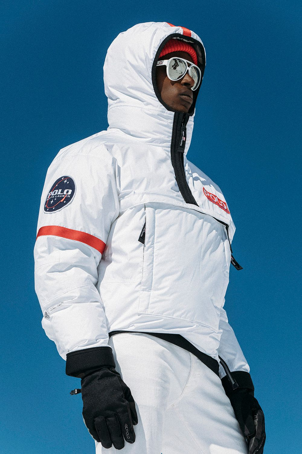 8aebebbe5415 Ralph Lauren Polo 11 High Tech Heated Jacket App Glacier Down White Navy  Silver Thermal Battery