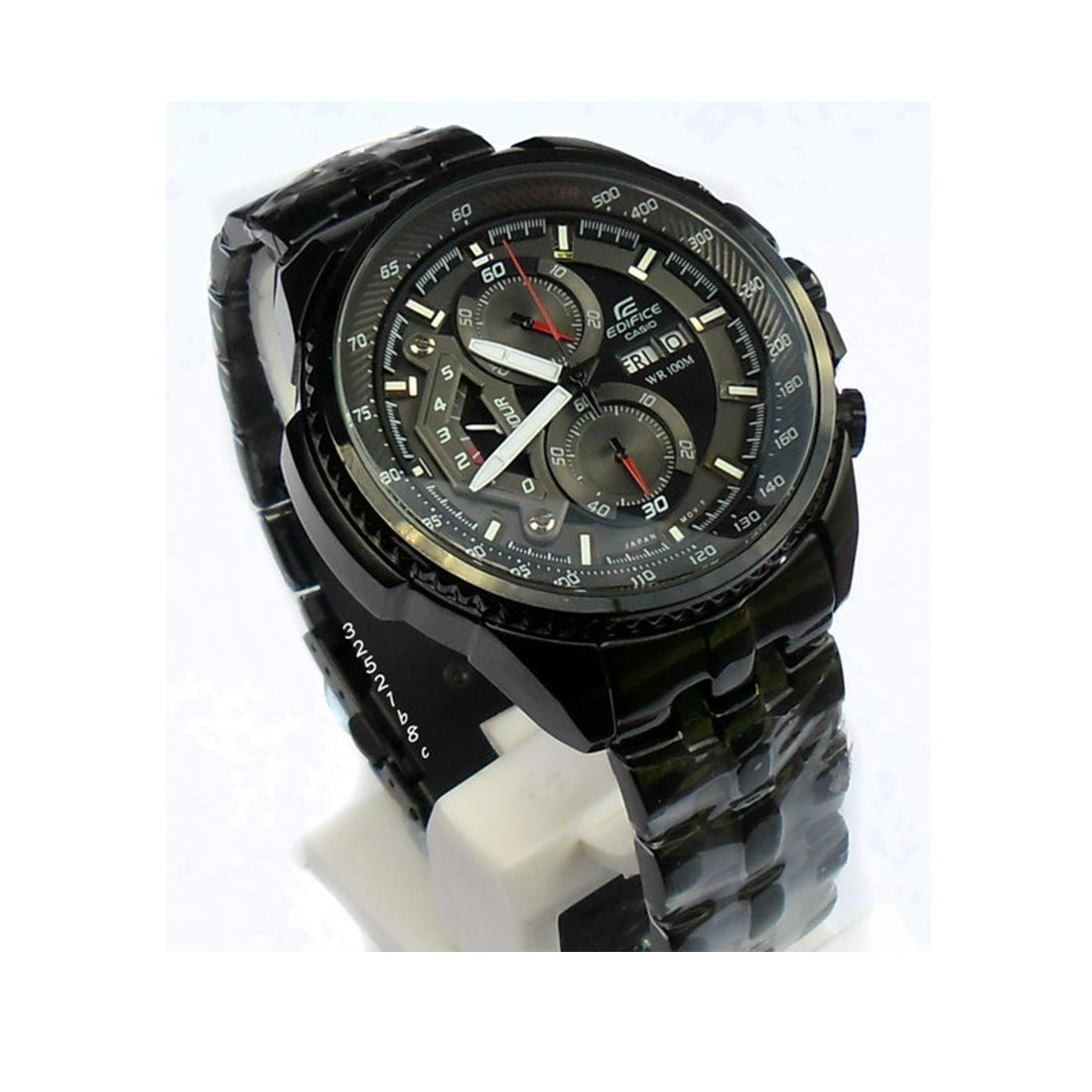 590d8412f5d9 CASIO EDIFICE Buy  Casio Edifice EF 558 Full Black  Men s  Watch ...