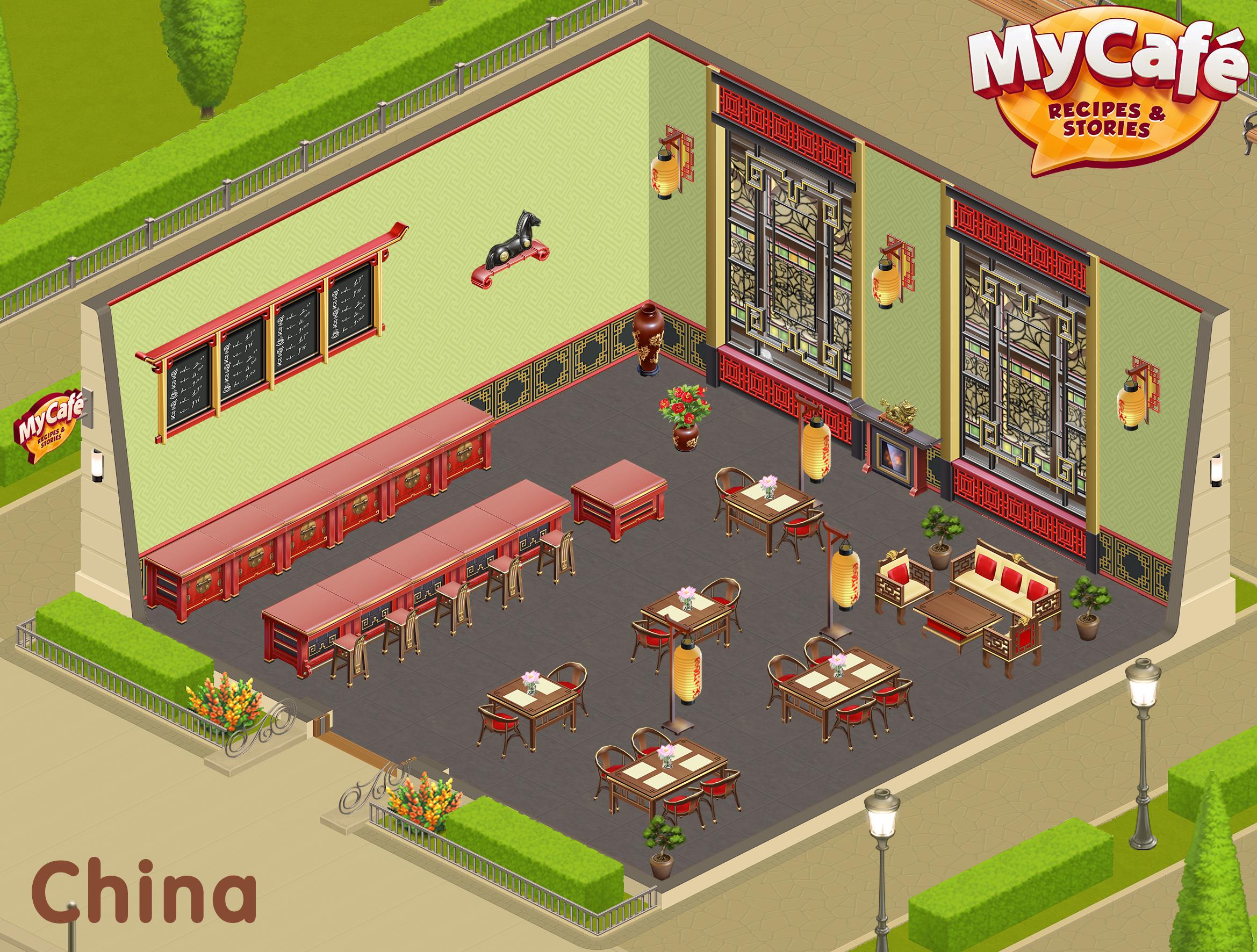 China Chinese Style My Cafe Game Mycafe Mycafegame Cafe Cafe Design Design