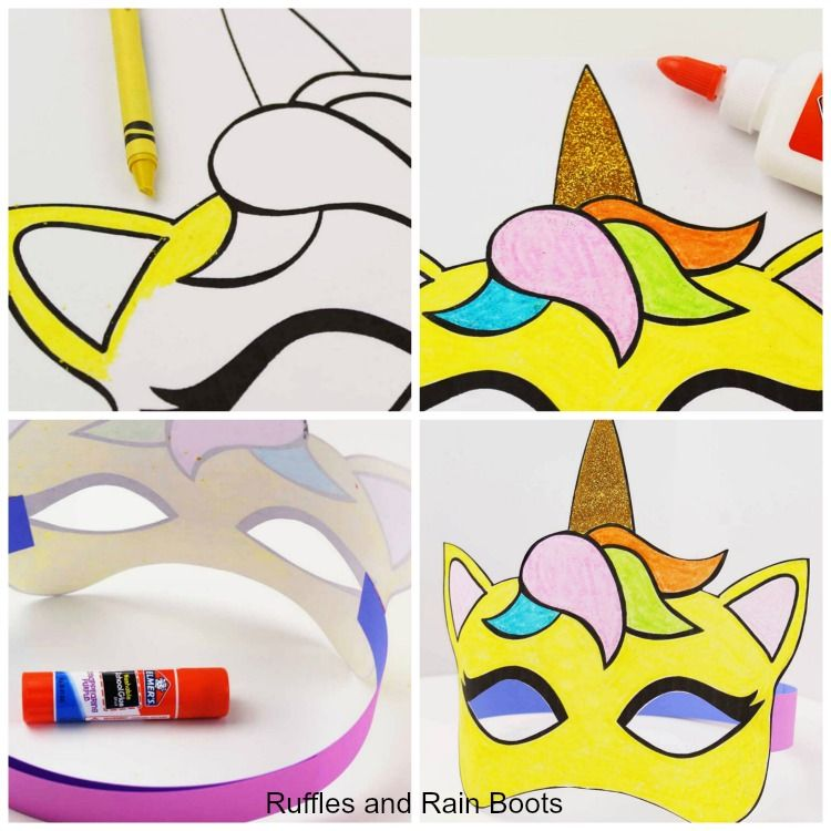 Free Printable Unicorn Mask Coloring Page And Template Unicorn Coloring Pages Unicorn Mask Unicorn Crafts
