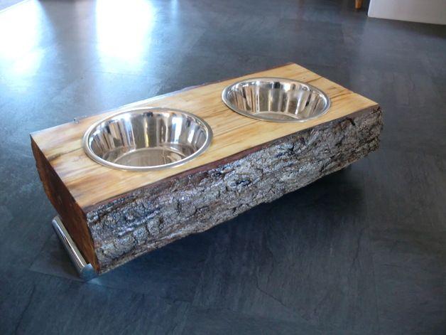 Photo of Dog: comida – tazón para perros – hecho a mano por PfauHolzdesign en DaWanda