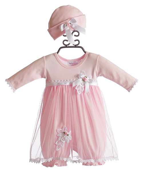 5ec4b0bbc963 Katie Rose Leila Infant Girls Bloomer Dress and Hat  81.00