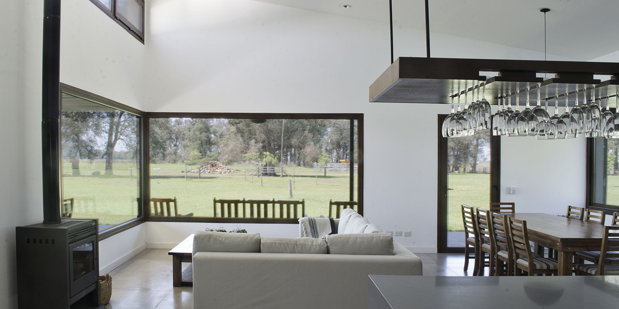 Casa cl living comedor y cocina integrados cocina for Living y cocina integrados